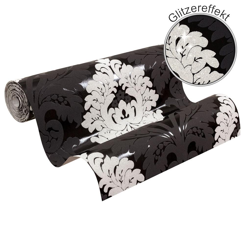 Tapete AS Creation Bling Bling Ornament Glitzer schwarz weiß 3139-50 2,41€//1qm