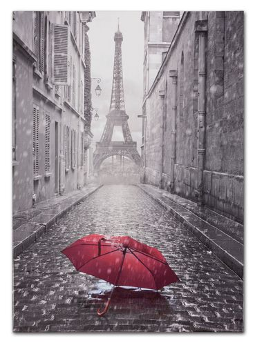 Picture Canvas Paris Eiffeltower black white 60x90cm online kaufen