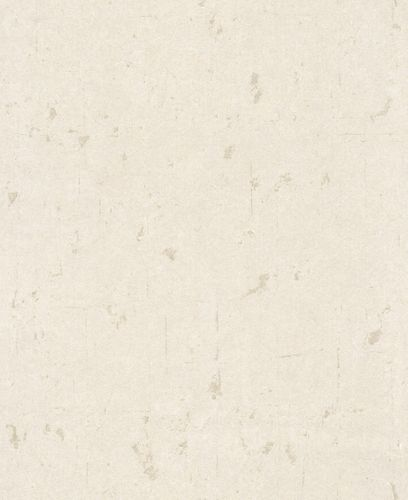 Non-woven Wallpaper Plain Vintage white Glossy 227313
