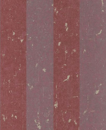 Non-woven Wallpaper Block Stripes Classic red grey 227337