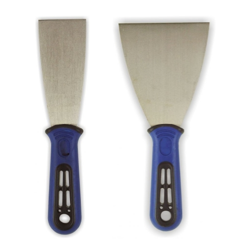 "Set of 2 Scraper Knife Metal ergo-grip 1.5"" 2.4"""