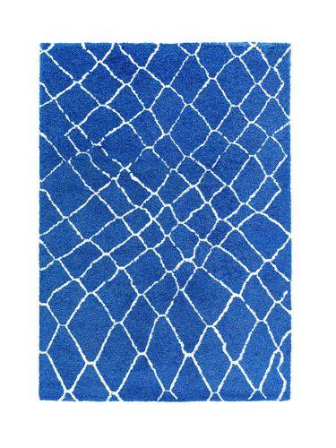 Schöner Wohnen carpet flatwoven squares blue 161020 online kaufen