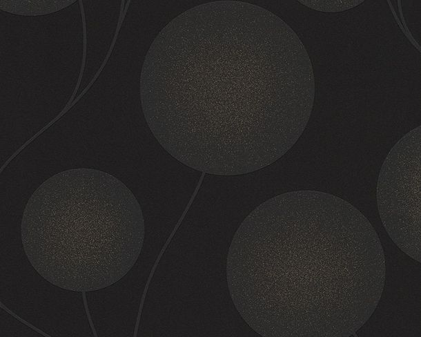 Wallpaper black grey circle Spot AS Creation 30547-3 online kaufen