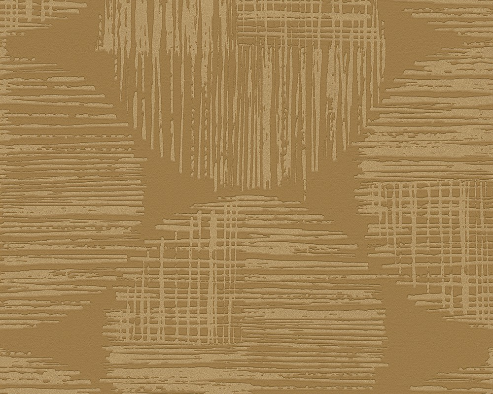 Wallpaper Brown Gold Circle Spot As Creation 30550 2