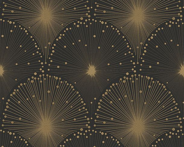 Wallpaper black gold graphic Spot AS Creation 30553-1 online kaufen