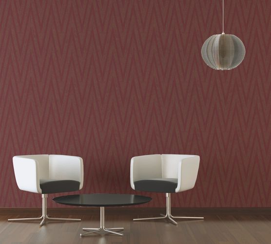 Wallpaper red gold stripes Titanium livingwalls 30645-5 online kaufen