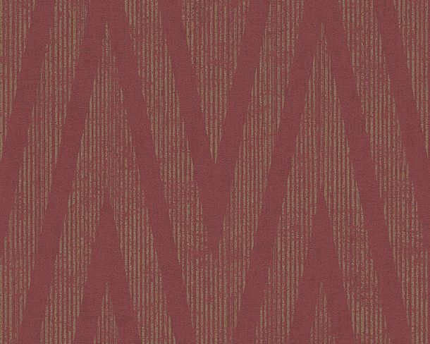 Wallpaper red gold stripes Titanium livingwalls 30645-5