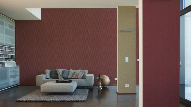 Wallpaper red plain Titanium livingwalls 30646-7 online kaufen