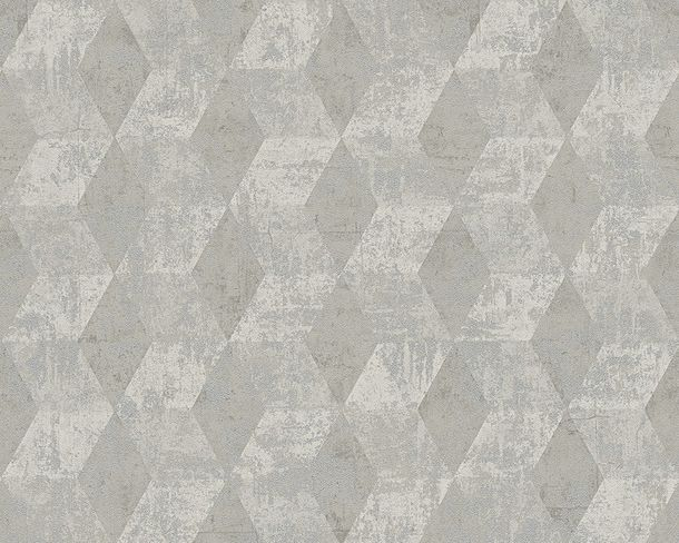 Wallpaper grey graphics Titanium livingwalls 30654-2