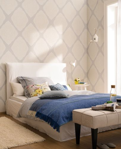 Wallpaper Zuhause Wohnen Marburg grey ornament 57104 online kaufen