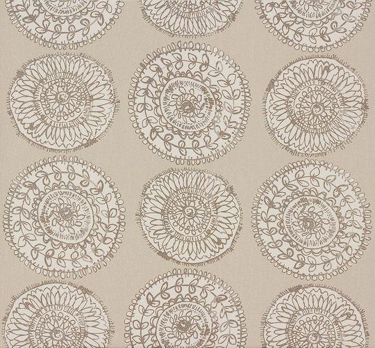 Wallpaper Zuhause Wohnen Marburg grey flower 57127 online kaufen