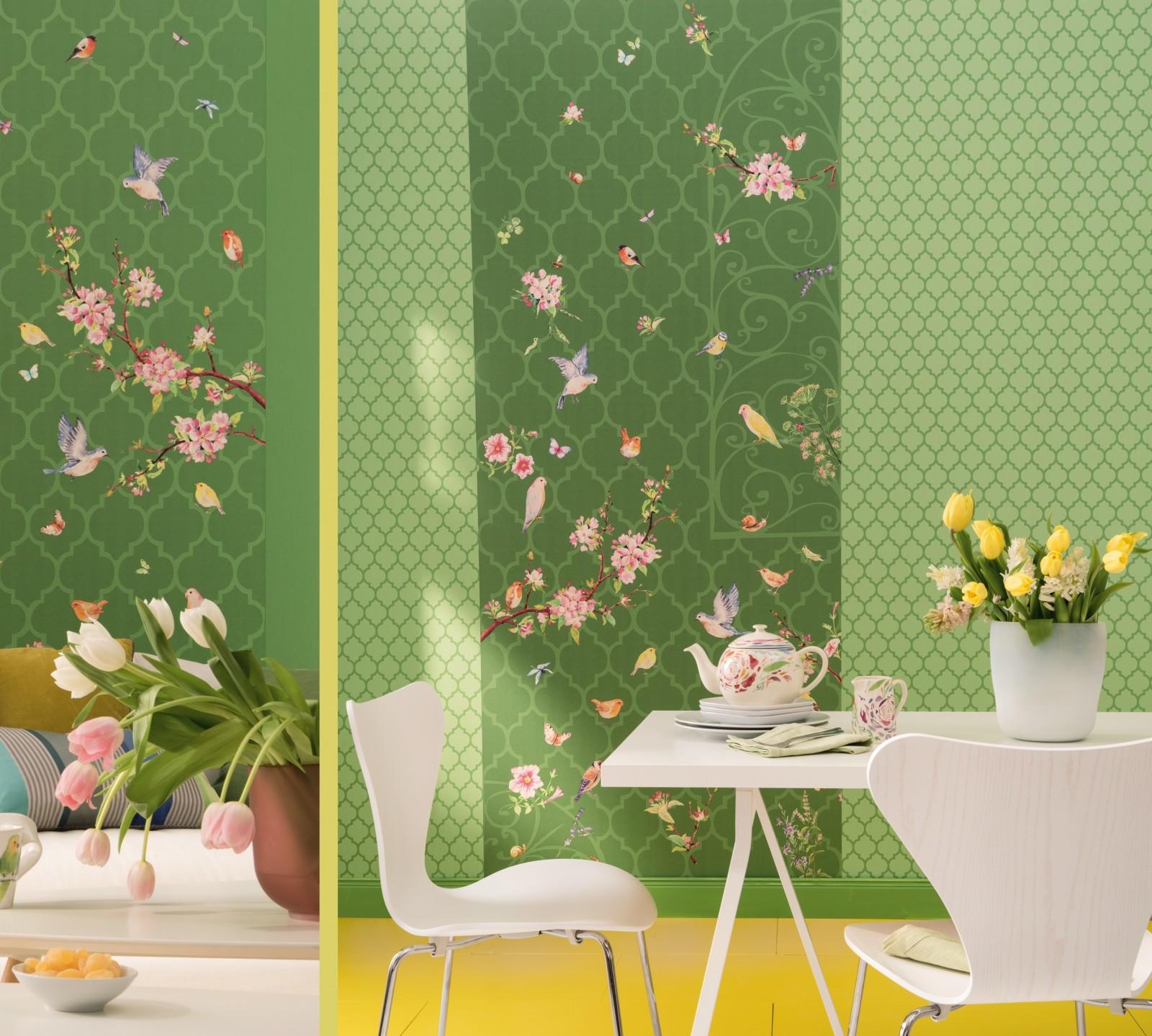 Zu Hause Wohnen wallpaper zuhause wohnen marburg green ornament 57143