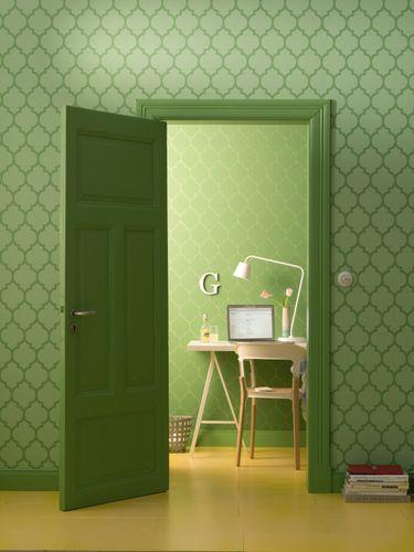 Wallpaper Zuhause Wohnen Marburg green ornament 57146 online kaufen