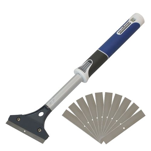 Heavy Duty Wallpaper Stripper with 10 Replacement Blades