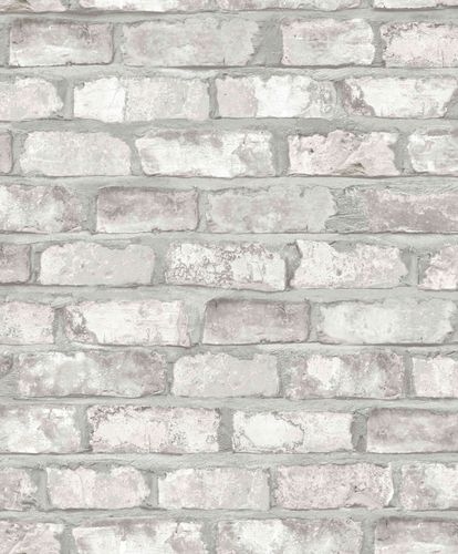 Wallpaper Grandeco clinker bricks grey white EW3104 online kaufen