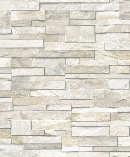 Wallpaper Grandeco Exposed stone grey beige PE-08-03-5