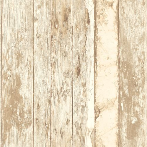 Wallpaper Grandeco Exposed wood brown beige PE-10-02-1