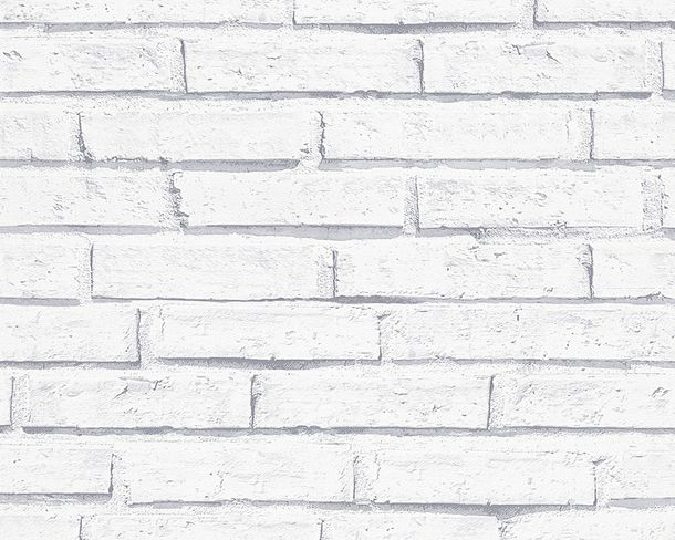 Wallpaper AS Creation stone wall white 30169-2