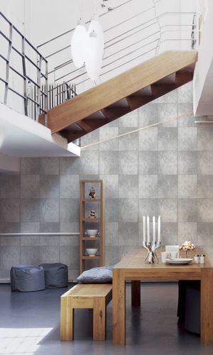 Non-Woven Wallpaper stone concrete slab grey 30179-1 online kaufen
