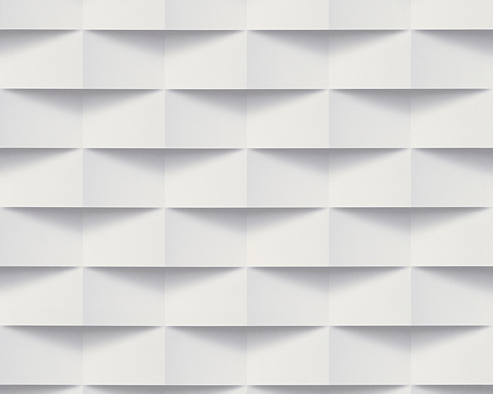 Wallpaper as creation rectangles white grey 30248 1 for Tapete grau