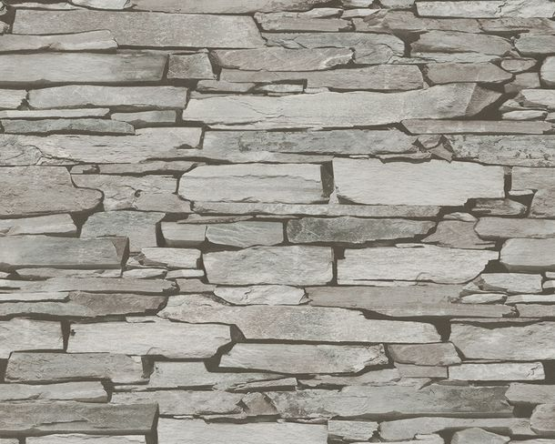Wallpaper shale natural stone grey black 9431-18 online kaufen