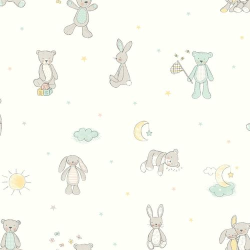 Kids Wallpaper Boy Girl animal white grey 667400 online kaufen