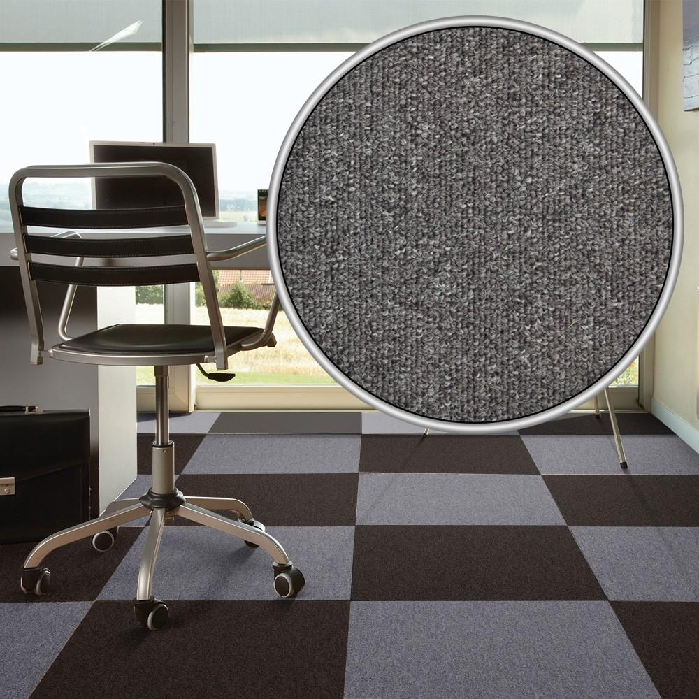 Carpet tile hard wearing rug diva grey 50x50 cm dailygadgetfo Images