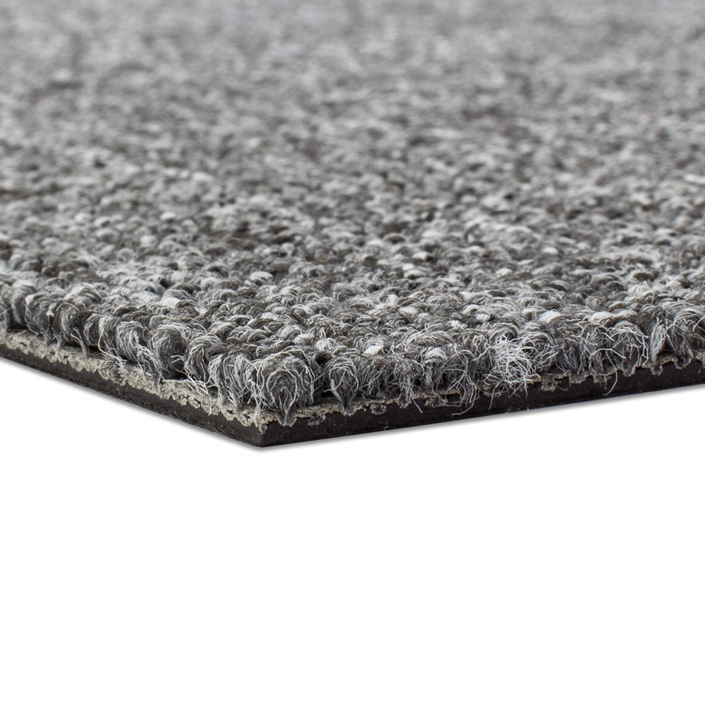 Carpet Tile Hard Wearing Rug Diva Grey 50x50 Cm
