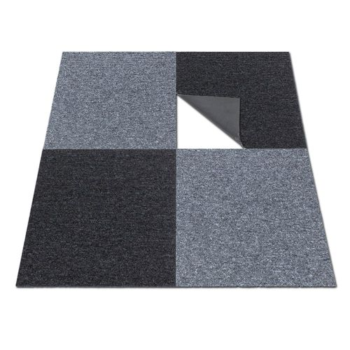 Carpet Tile Hard-Wearing Rug Diva black 50x50 cm online kaufen