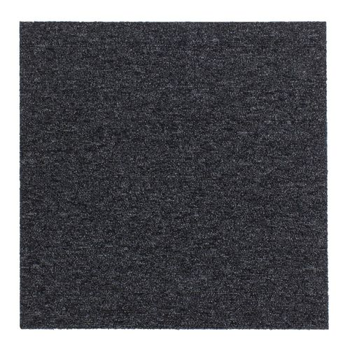 Carpet Tile Hard-Wearing Rug Diva black 50x50 cm