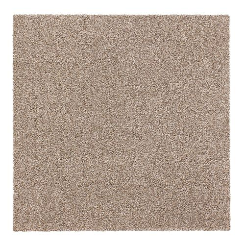 Carpet Tile Velour Hard-Wearing Rug beige 50x50 cm