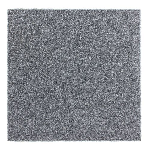 Carpet Tile Velour Hard-Wearing Rug grey 50x50 cm online kaufen
