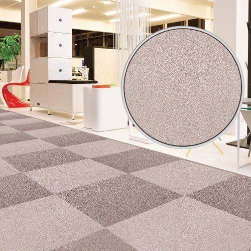 Carpet Tile Velour Hard-Wearing Rug cream 50x50 cm online kaufen