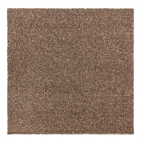 Carpet Tile Velour Hard-Wearing Rug brown 50x50 cm