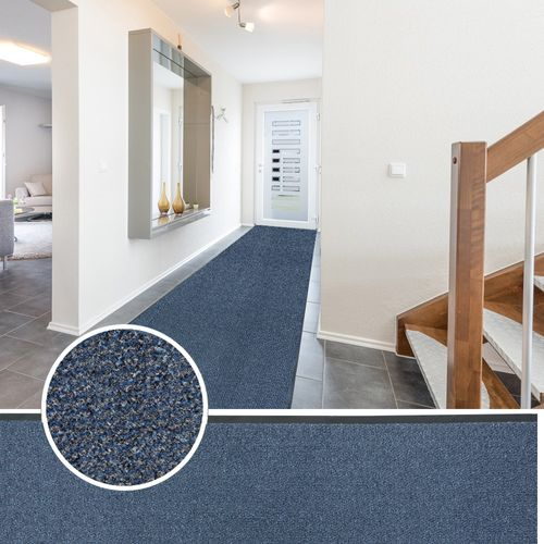 Heavy Duty Non-Slip Dirt Runner blue Classic Clean 90cm