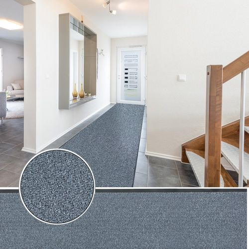 Heavy Duty Non-Slip Dirt Runner grey Classic Clean 90cm
