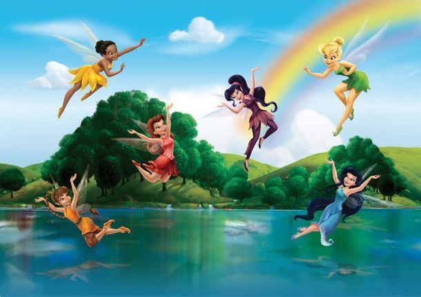 Fototapete Tapete Disney Feen Tinkerbell bunt 360x254cm online kaufen