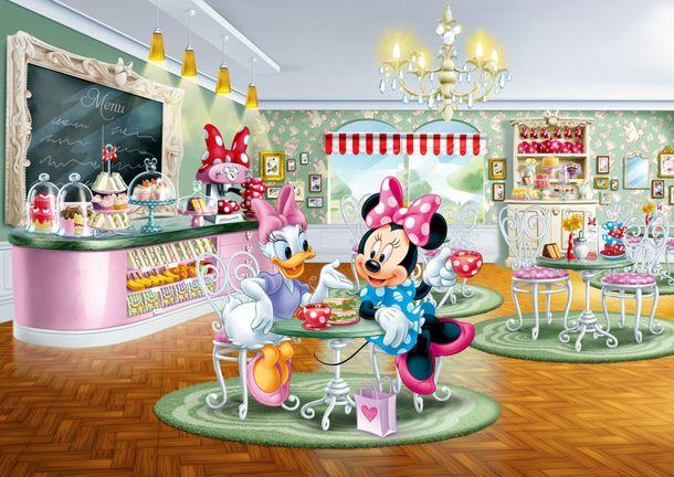 Fototapete Tapete Disney Minnie Maus Daisy Duck 255x180cm