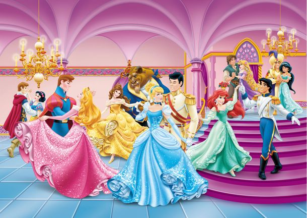 Photo Wallpaper Mural Disney Princess Cinderella 255x180cm online kaufen