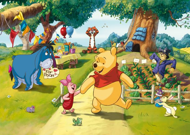 Photo Wallpaper Mural Disney Winnie the Pooh 255x180cm online kaufen