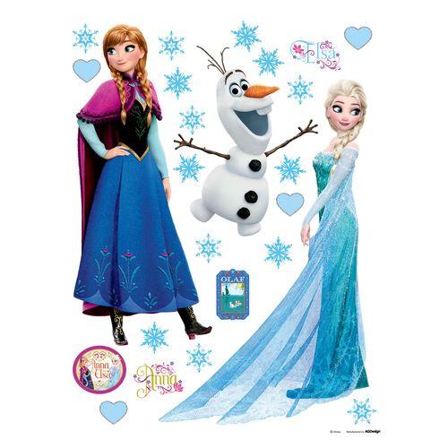 Wandsticker Sticker Disney Eiskönigin Elsa Olaf 65x85cm