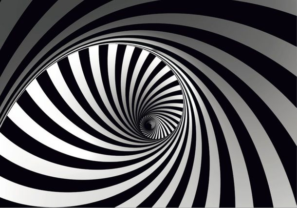 XXL Photo Wallpaper Mural Graphic Spiral black white online kaufen
