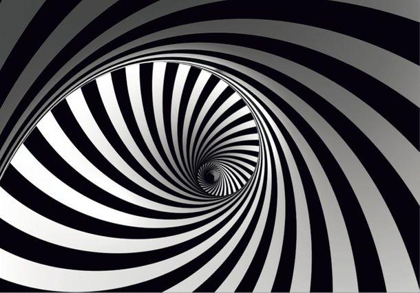 XXL Fototapeten Tapete Grafik Spirale schwarzweiß online kaufen