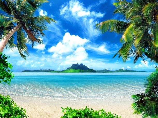 XXL Photo Wallpaper Mural Island Paradies Beach Ocean online kaufen