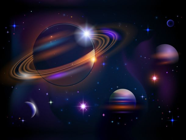 XXL Photo Wallpaper Mural Space Universe Planet Star online kaufen