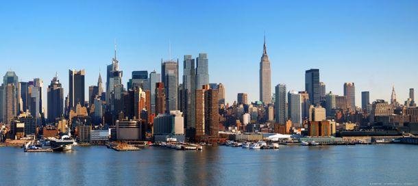 Fototapete Tapete Skyline New York Hudson River 202x90cm online kaufen