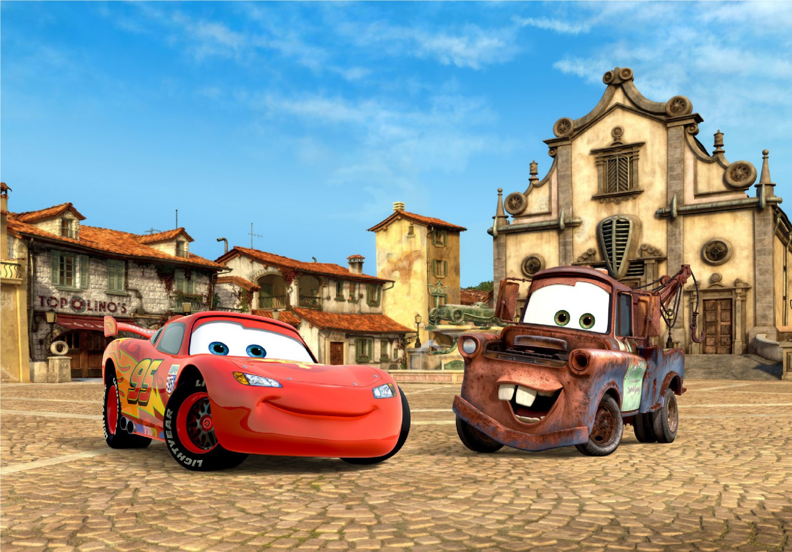 Xxl photo wallpaper disney cars lightning mcqueen mural - Disney cars wallpaper ...