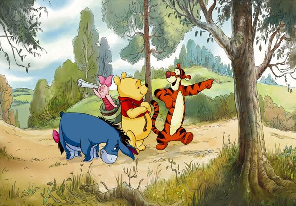 XXL Photo Wallpaper Mural Disney Winnie the Pooh I-Aah online kaufen
