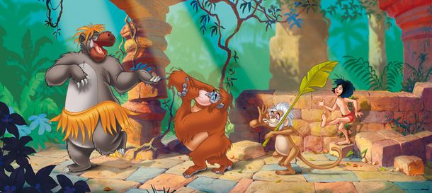 Photo Wallpaper Mural Disney Jungle Book 202x90cm