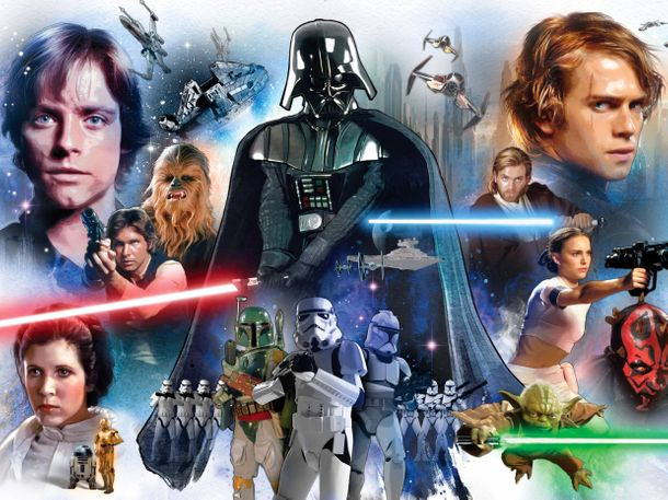 XXL Photo Wallpaper Mural Star Wars Jedi Darth Vader online kaufen